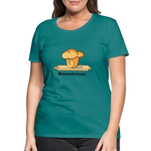 Brioche française et rouleau à patisserie - T-shirt Premium Femme