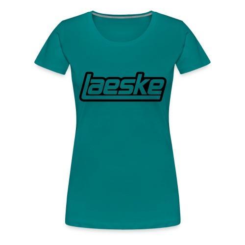 Laeske Black Logo - Dame premium T-shirt