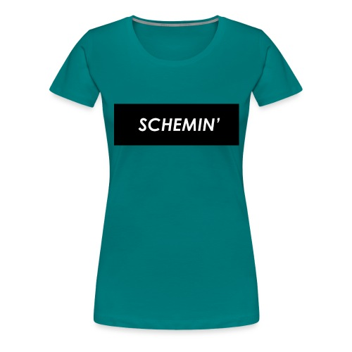 SCHEMIN' Black/White colour way - Women's Premium T-Shirt