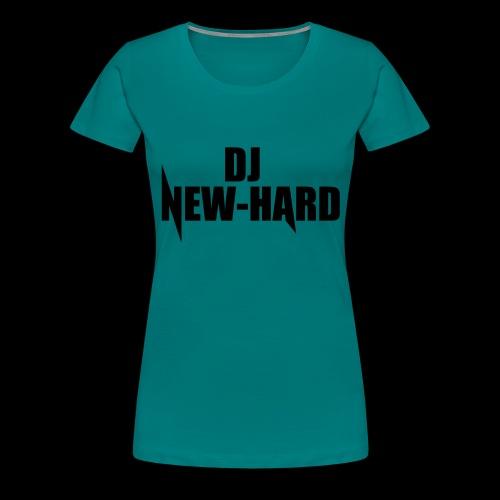 DJ NEW-HARD LOGO - Vrouwen Premium T-shirt