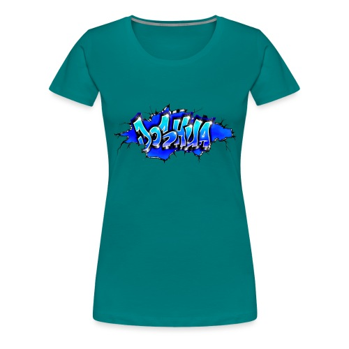 GRAFFITI JOSHUA WALL BROKEN BLUE - T-shirt Premium Femme
