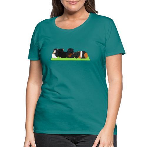 Cavia familie - Vrouwen Premium T-shirt