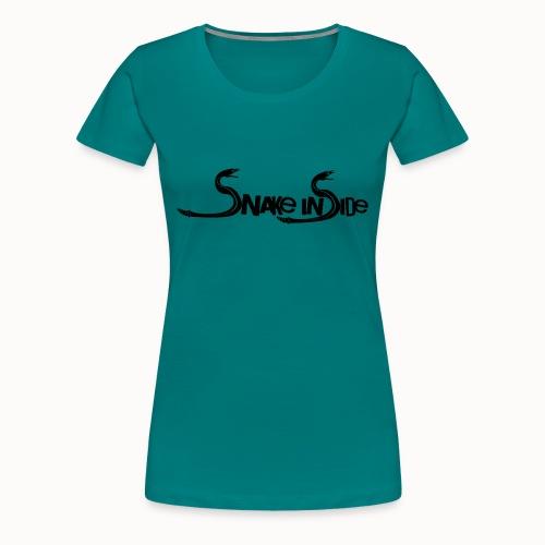 snake inside vorne - Schlange hinten - Frauen Premium T-Shirt