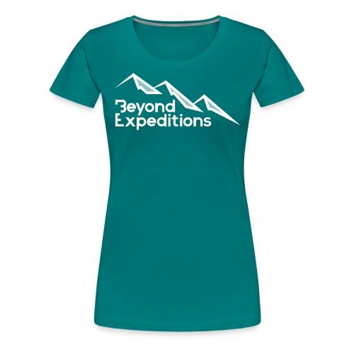 Beyond Expeditions White Logo - T-shirt Premium Femme