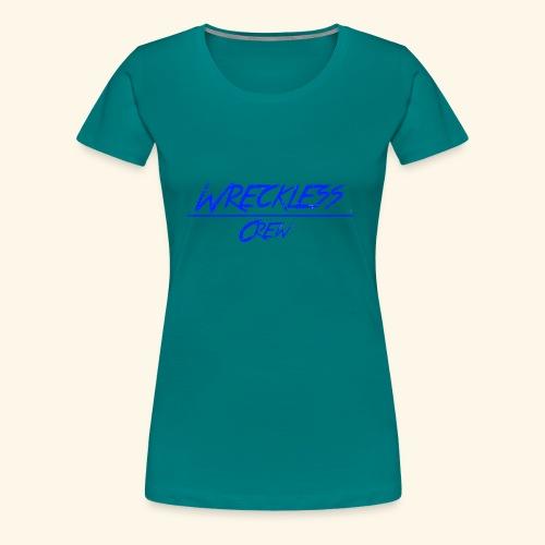Wreckless crew logo blå - Premium T-skjorte for kvinner