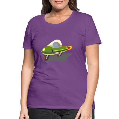 Futuristic Retro Bike - Women's Premium T-Shirt