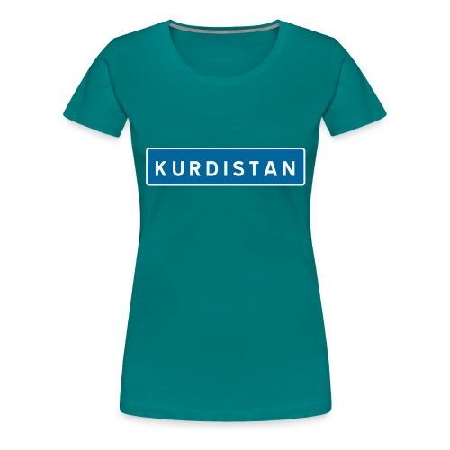 Kurdistanskylt - Premium-T-shirt dam