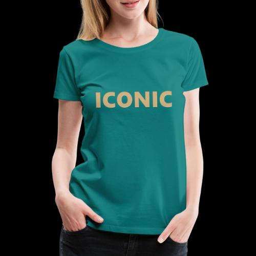 ICONIC [Cyber Glam Collection ] - T-shirt Premium Femme