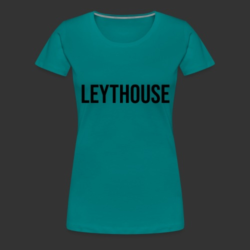LEYTHOUSE main logo black - Women's Premium T-Shirt