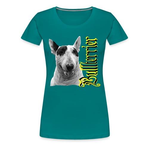 Bullterrier,Bulldog,Bulldogge,Hundekopf,Terrier, - Frauen Premium T-Shirt