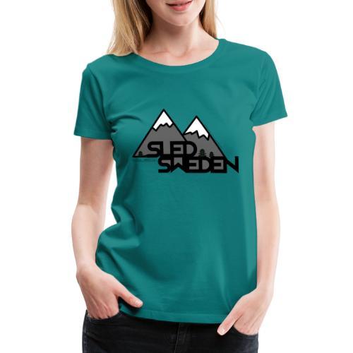 SledSweden Logo - Premium-T-shirt dam