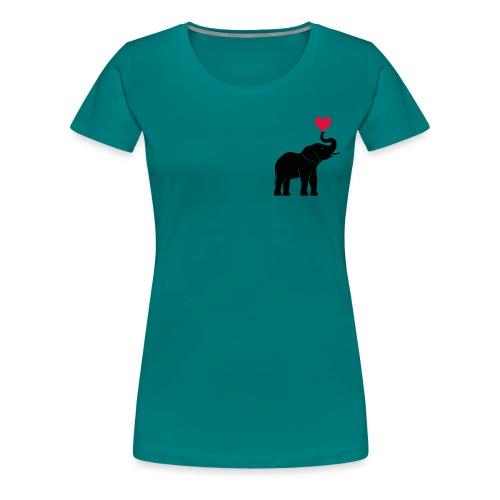 Love Elephants - Women's Premium T-Shirt