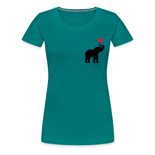 Love Elephants - Women's Premium T-Shirt
