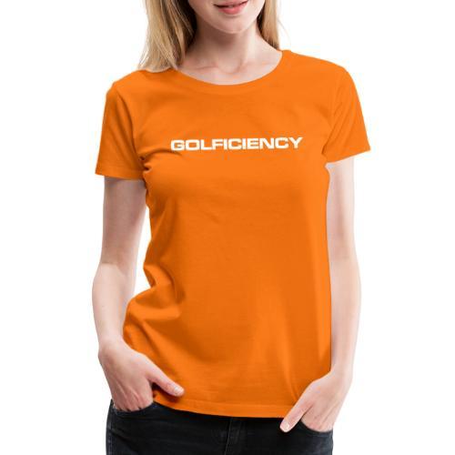 GOLFICIENCY Logo - Women's Premium T-Shirt