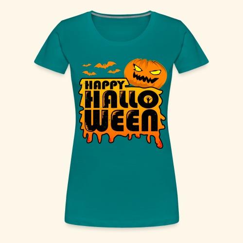schauriger Kürbis Happy Halloween - Frauen Premium T-Shirt