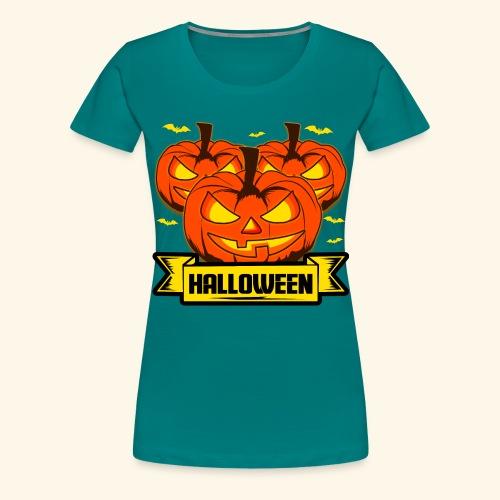Kürbisköpfe für Halloween - super als Geschenk - Frauen Premium T-Shirt