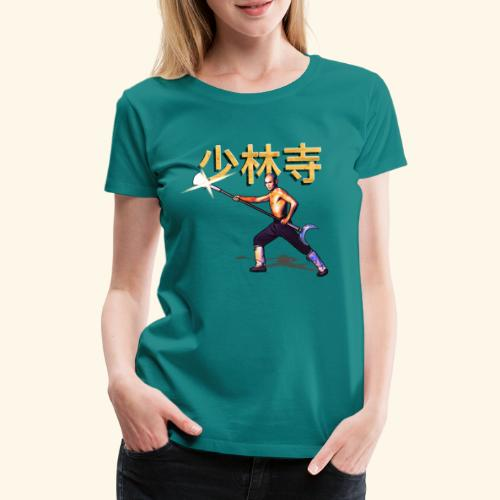 Gordon Liu som San Te - Warrior Monk - Dame premium T-shirt