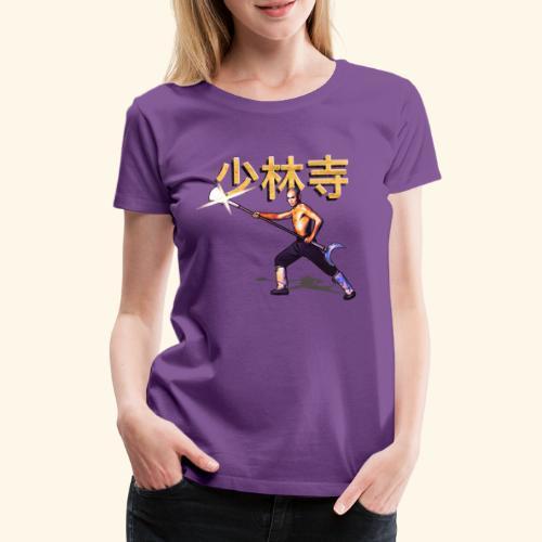 Gordon Liu som San Te - Warrior Monk - Dame premium T-shirt