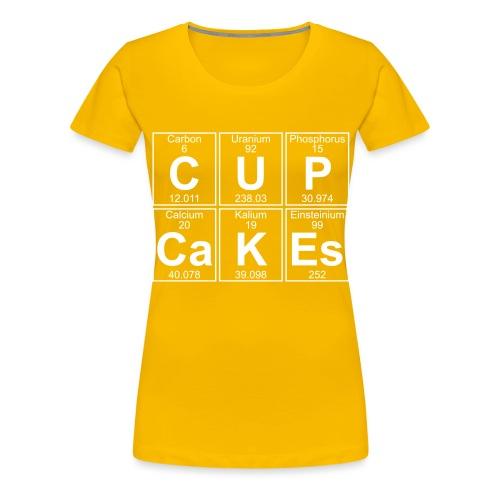 C-U-P-Ca-K-Es (cupcakes) - Full - Women's Premium T-Shirt