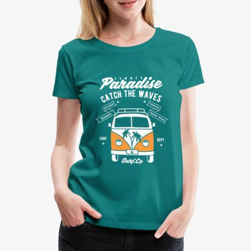 Surf Van - Women's Premium T-Shirt