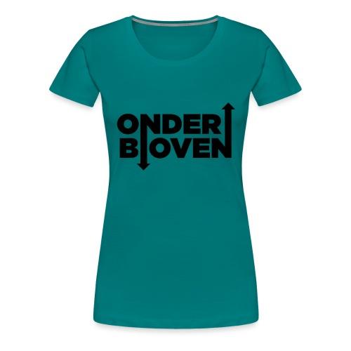 LOGO_ONDERBOVEN - Vrouwen Premium T-shirt
