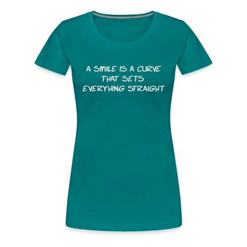 A Smile is a curve - Vrouwen Premium T-shirt