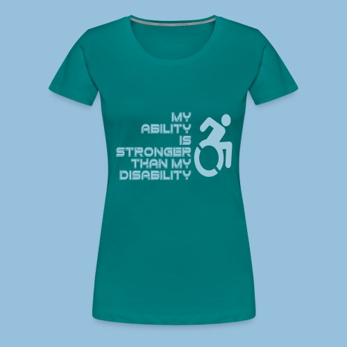 Ability1 - Vrouwen Premium T-shirt