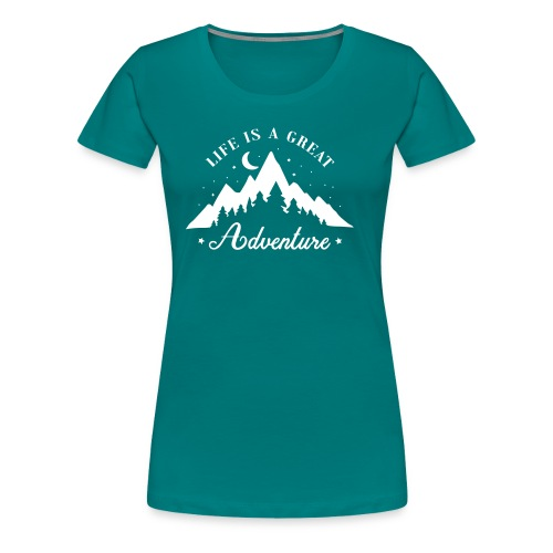Natur Wildnis Mutternatur Leben Wandern Geschenk - Frauen Premium T-Shirt