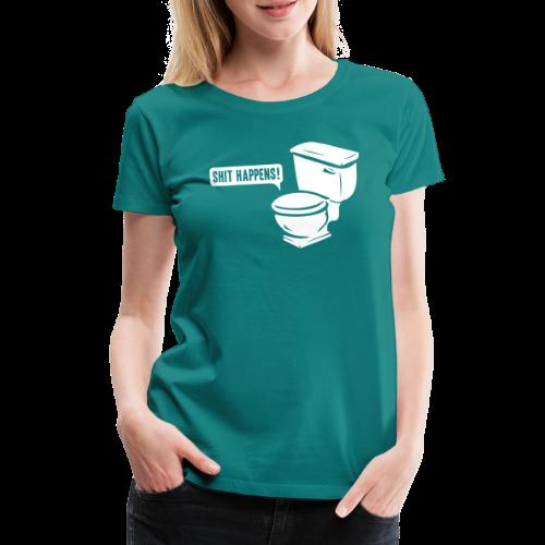 T-shirt, Shit happens - Premium-T-shirt dam