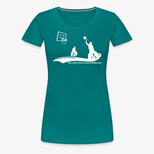 PNL Rollstuhlbasketball white - Frauen Premium T-Shirt