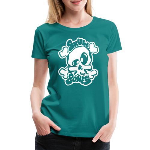 Skull and Bones - Premium-T-shirt dam