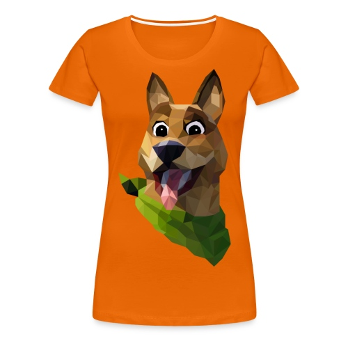 LOW POLY DOGO - T-shirt Premium Femme