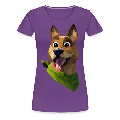 LOW POLY DOGO - T-shirt Premium Femme