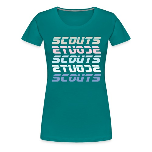 SCOUTS Retro Typo Pastell Mix - Frauen Premium T-Shirt