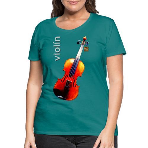 Violín - Camiseta premium mujer