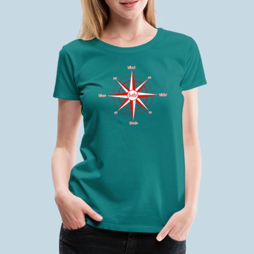 Windrose Wassersport - Frauen Premium T-Shirt