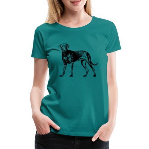 Weimaraner / Hunde Design Geschenkidee - Frauen Premium T-Shirt