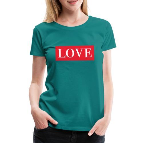 Red LOVE - Women's Premium T-Shirt