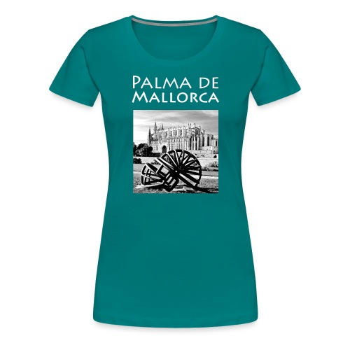 Palma de Mallorca mit Cathedrale Heiligen Maria - Frauen Premium T-Shirt