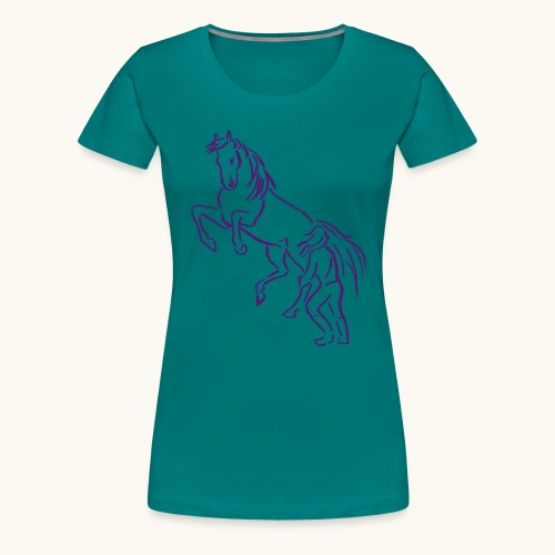 Rising Horse Floor Work cadeau amour fierté - T-shirt Premium Femme