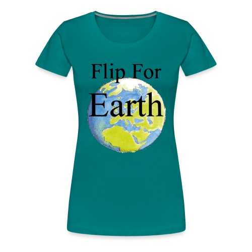 flip_for_earth - Premium-T-shirt dam