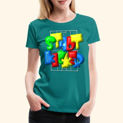 Stadtkicker im Fußballfeld - Balloon-Style - Frauen Premium T-Shirt