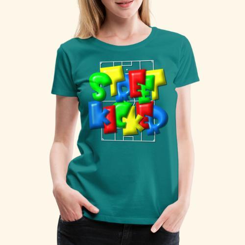 Streek Kicker im Fußballfeld - Balloon-Style - Frauen Premium T-Shirt