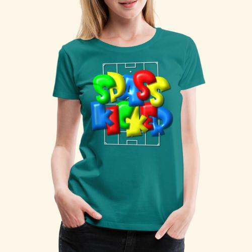 Spass Kicker im Fußballfeld - Balloon-Style - Frauen Premium T-Shirt