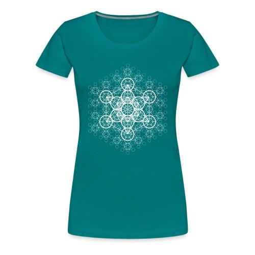metatron-matrice-blanc - T-shirt Premium Femme