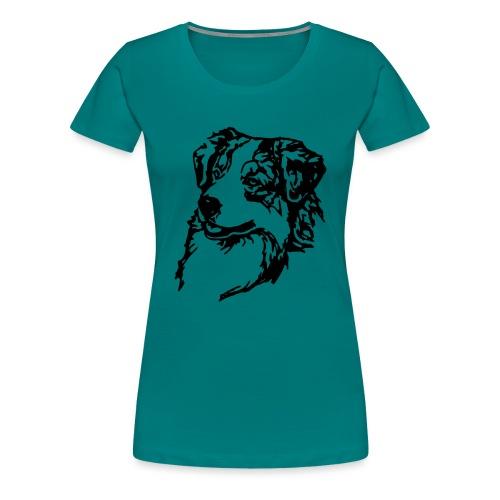 Australian Shepherd Kopf - Frauen Premium T-Shirt