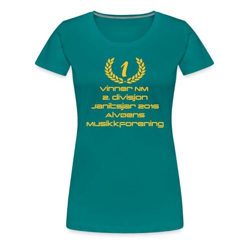 vinner 2 div janitsjar16 - Premium T-skjorte for kvinner