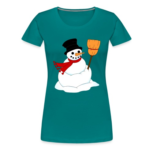 Snemand m. kost - Dame premium T-shirt