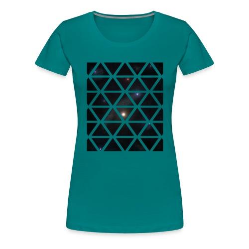 Dreiecke Weltraum - Frauen Premium T-Shirt