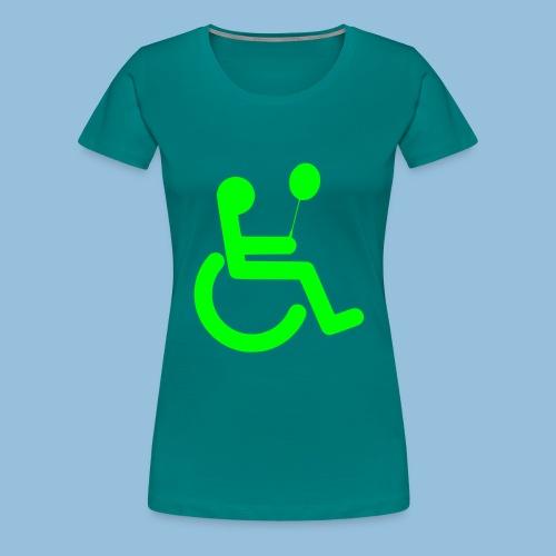 Baloonwheelchair2 - Vrouwen Premium T-shirt
